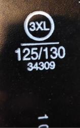 Ceinture noire c a taille 3 xl