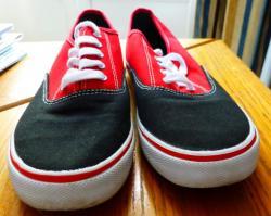 Chaussures imitation vans rouges et noires t 44 1