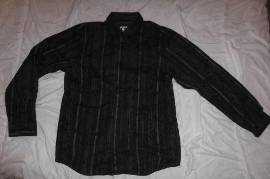 Chemise noire a motif taille l r
