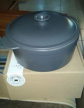 Cocotte ronde ceramique terre etoilee 1