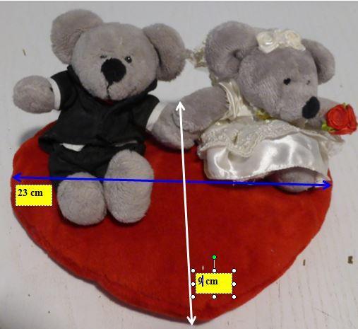 Coussin coeur et souris mariage