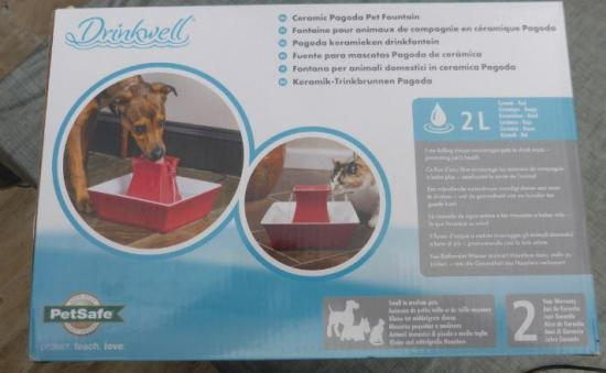 Fontaine a eau animaux drinkwell boite 3