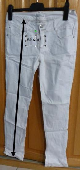 Jeans blanc promod cindy taille 40 r
