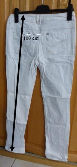 Jeans blanc promod cindy taille 40 v