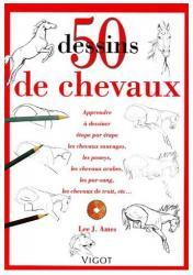 Livre 50 dessins de chevaux