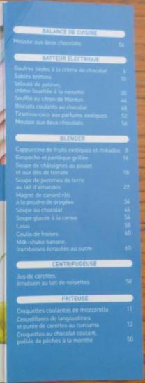 Livre cuisine de chef cyril lignac table des matieres