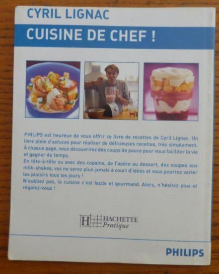 Livre cuisine de chef cyril lignac v