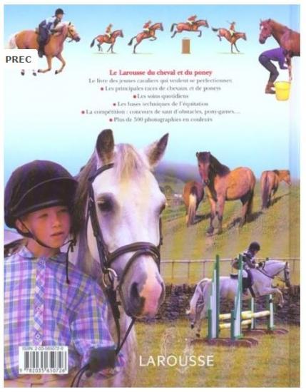 Livre larousse du cheval et du poney