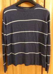 Lot 1 de 3 pull bleu marine et blanc taille s