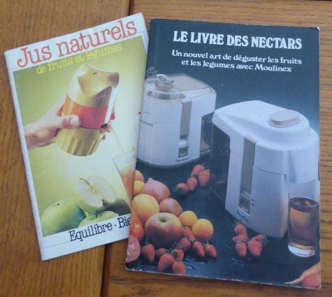 Lot 2 livres sur les nectars et jus naturels
