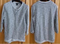 Lot 3 de 3 pull gris et blanc chine taille s