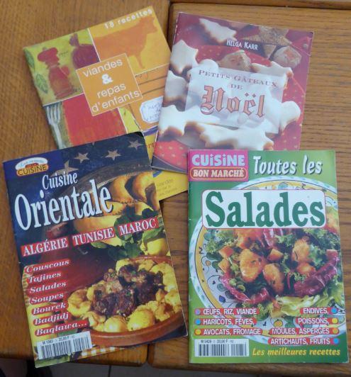 Lot 4 livres cuisine repas enfants orientale salade et noel