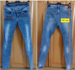 Lot b 1 de 3 jeans fille taille 34 avec fermeture