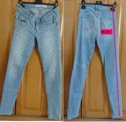 Lot b 3 de 3 jeans bleu croisillons fille taille 34