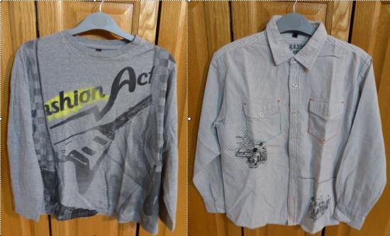 Lot chemise et polo gris taille 12 ans