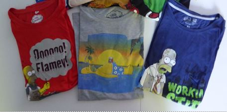 Lot n 1 de 3 t shirt homer taille xl