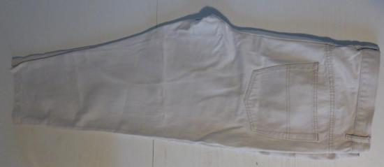Pantalon homme blanc casse taille 56 entier 1