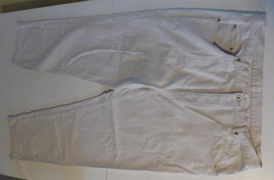 Pantalon homme blanc casse taille 56 entier r