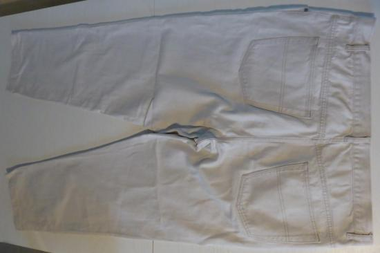 Pantalon homme blanc casse taille 56 entier v