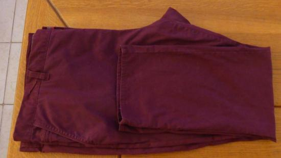 Pantalon homme bordeaux kiabi t 64 fitted