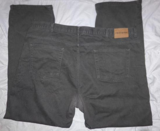 Pantalon homme gris kiabi replie dos