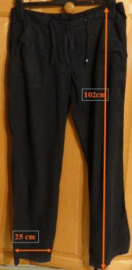 Pantalon noir toile cindy t 38 r