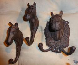 Porte manteau chevaux 2