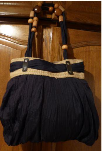 Sac noir tissu noeud cindy v