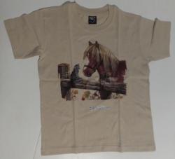 T shirt beige oleron t 9 10 ans