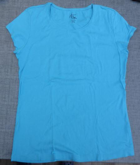T shirt bleu turquoise 2 xl tex