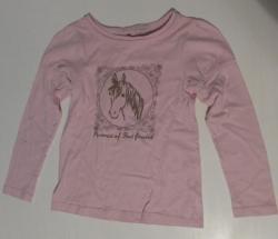 T shirt rose tete de cheval fille taille 7 8 ans